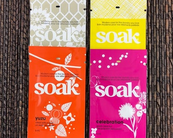 Soak Wash Singles Yuzu, Celebration Pineapple Grove or Scentless Soak 5ml Single Use Packet Mini Single Use Soak Travel Size Soak 5ml Each