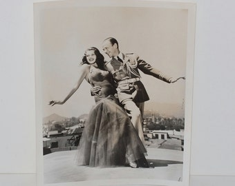 "Vintage Photograph Fred Astaire & Rita Hayworth ""You Will Never Get Rich"", 1941"
