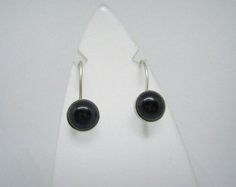 Black Onyx Earrings, Sterling Silver Earrings with onyx, Handmade Onyx Earrings, Silver earrings