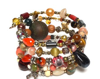 PEBBLES Coil Beaded Bracelet by Beading Divas Fundraiser