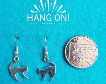 Handmade Tibetan Silver Cat Earrings