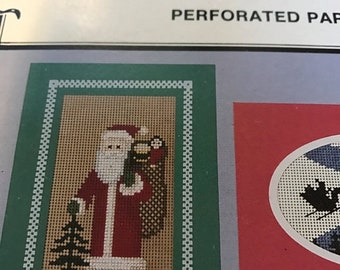 SUMMERSALE Yuletides Perforated Paper Christmas card counted cross stitch designs