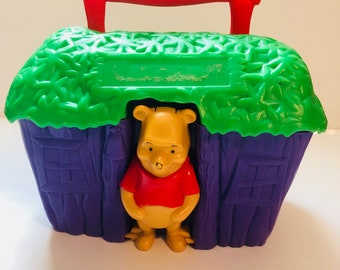 Vintage thermos brand Winnie the Pooh lunch box Winnie in tree house