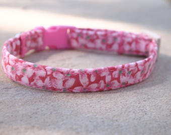Pink Florals Breakaway Cat Collar
