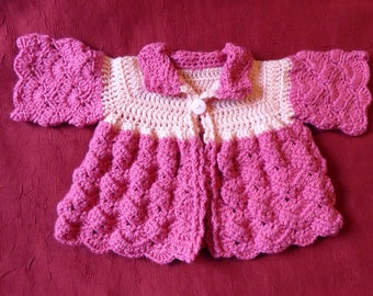 Two-tone pink baby vest