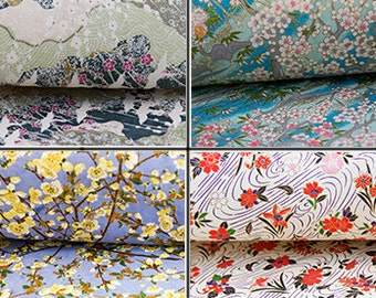 Floral Japanese Paper, Washi Paper, Origami Paper, Handmade Paper, Chiyogami, Yuzen