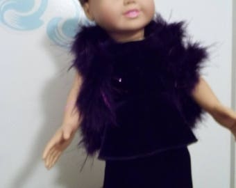 """18"""" doll Deep Purple Velvet gown 349E"""