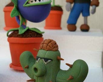 Handmade Edible Plants vs. Zombies inspired cake or cupcake toppers