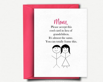 Mom Card Funny Mothers Day Card Funny Mothers Day Gift
