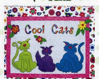 Cool Cats Wall Hanging Pattern from Cool Cat Creations