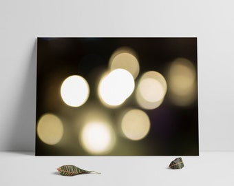Blurred Lights Bokeh Photography Abstract Fine Art Photo Print Home Wall Decor Abstract Photography Instant Download Printables
