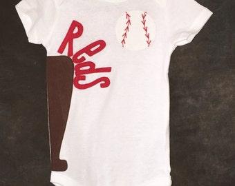 Cincinnati reds baby etsy personalized cincinnati reds team baseball bodysuit negle Image collections