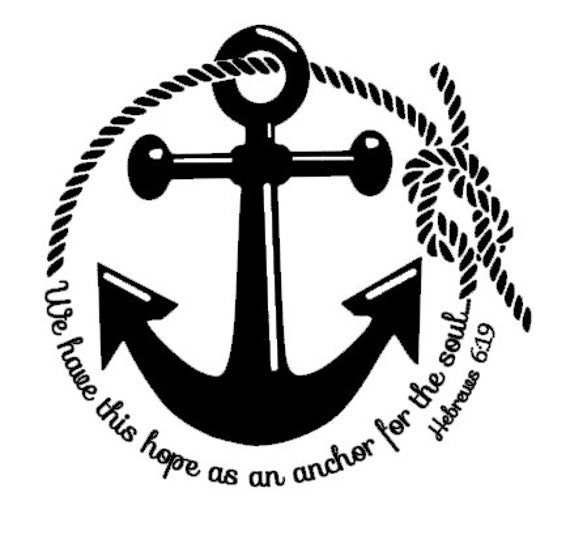 Items similar to anchor monogram decal nautical anchor religious car decal vinyl monogram decal vinyl laptop decal cell phone decal car window decal