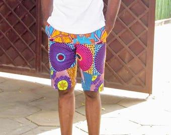 Men print shorts, ankara men shorts, custom male shorts