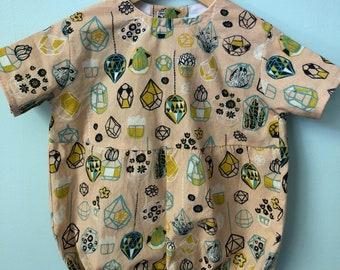 Organic Summer Baby Romper // EcoFriendly Baby Romper // Handmade Baby Romper