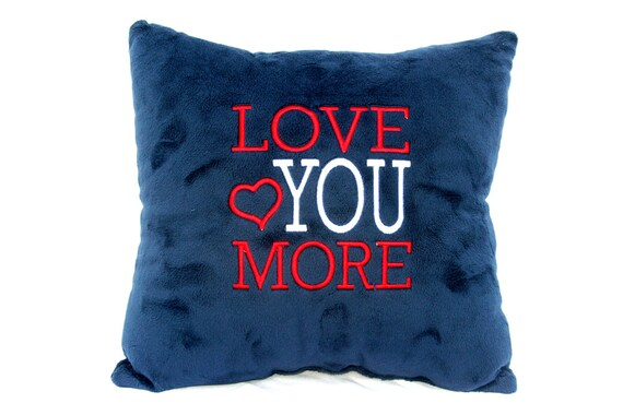 Love You More with Heart (Customized Pillow)