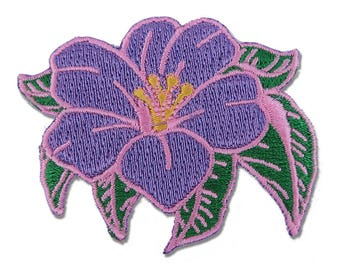 Tropical Flower Iron On Embroidered Patch - Flair - Floral - Embroidery - Christmas Gift - Stocking Stuffer