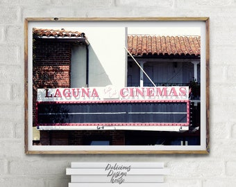 Laguna Beach Wall California Dreaming Beach Printable Art / California Beach Art Vacation Art Print Large Wall Art / California Poster
