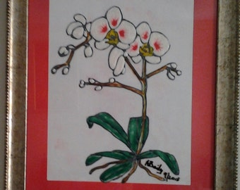 Stained  glass  White Orchid
