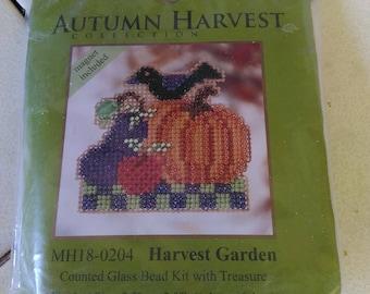 Beaded Pumpkin Magnet Kit