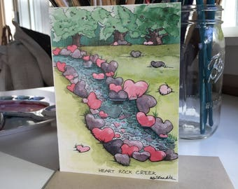 Valentine, greeting card, love, just because, watercolor print