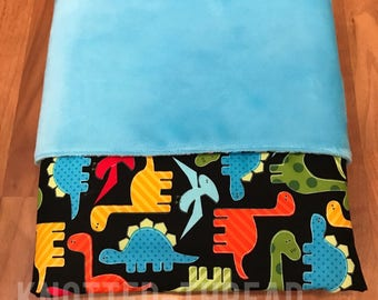 READY TO SHIP - Colorful Dinos- Personalized Name Blanket - Baby shower - Baby gift - newborn