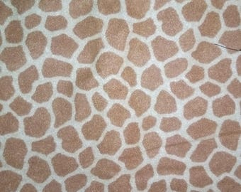 Tan Tallest Giraffe Animal Print  FLANNEL