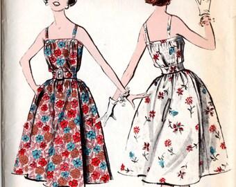 Advance 8972 Misses' Vintage 1950s Wrap Around Sundress Sewing Pattern