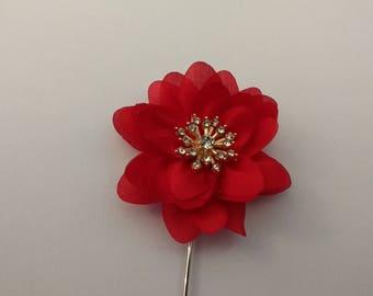 Men's Lapel Pin.....Fabric Flower Lapel Pin