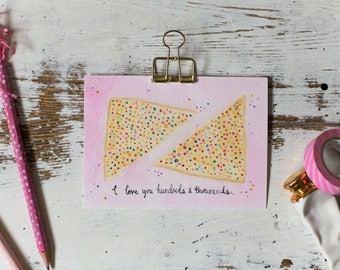 Fairy Bread Print//4x6 Art Print//Fairy Bread Art//Whimsical Art Print//Nursery art//Nursery Decor//Watercolour Print//Valentines Day Gift