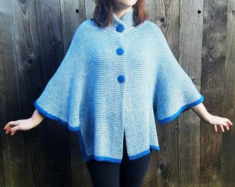 100% Baby Alpaca Poncho Sweater