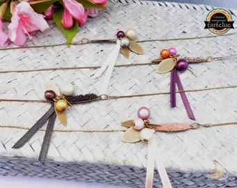 Necklace / sparkling beaded bracelet