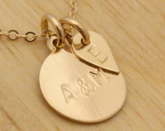 Custom Mom Necklace - Personalized Gold Necklace - Couple Family Necklace Initials New Mom Necklace Kid Names Gift For New Mom Push Present