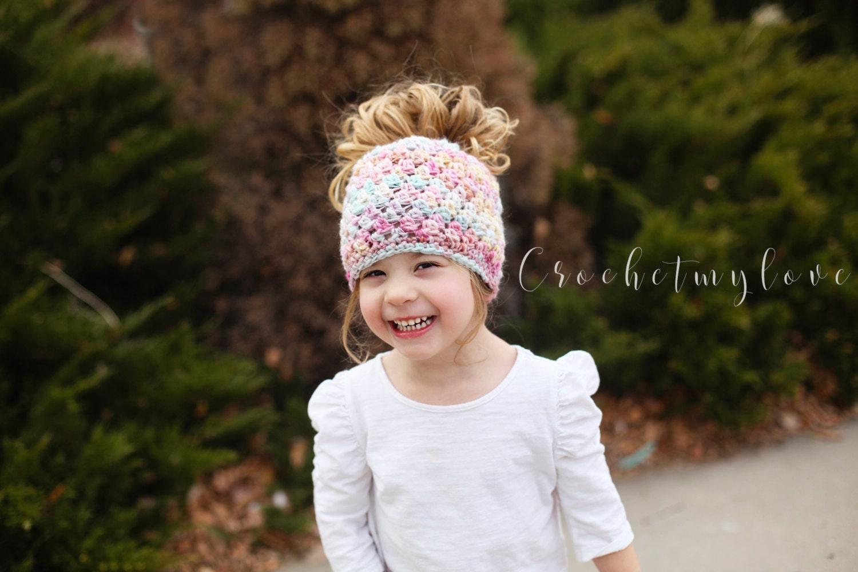 Messy bun beanie crochet pattern crochet patterns women