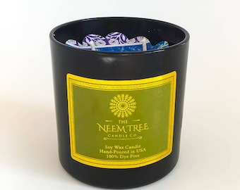 GINGER CHIFFON artisan / handmade 2 wick / double wicked 100% Soy Wax Candle | The Neem Tree Candle Co