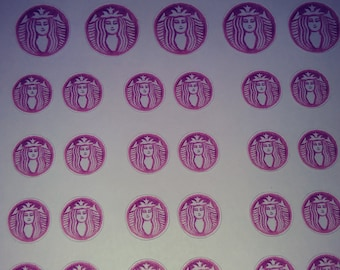 Starbucks Inspired watercolor Coffee stickers