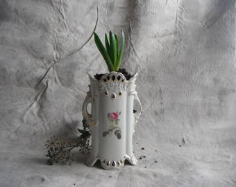 Pink Rose China Vase