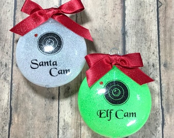 Santa or Elf Cam Christmas Ornament