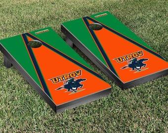 Texas Rio Grande Valley Vaqueros Regulation Cornhole Game Set Triangle Designs