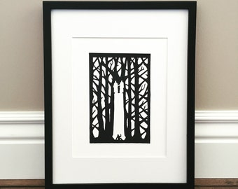 "Pillar of Light - Signed Print - Joseph Smith and the First Vision - 8.5"" x 11"""