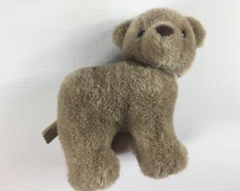 "Applause Bear Plush Head Turned Stuffed 10"" Toy No Wheels Nostalgic Kids"