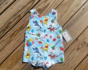 Boys Jon Jons - Winnie The Pooh -  Clothing For Boys - Boys Winnie The Pooh Birthday -  Toddler Boys Clothing - Boys Shortall - Groovy Gurlz