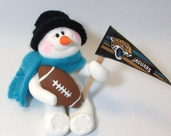 Jacksonville Jaguars: Football snowman ornament