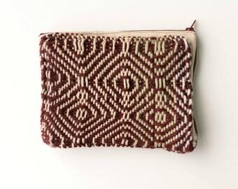 Burgandy Handwoven Fabric Wallet