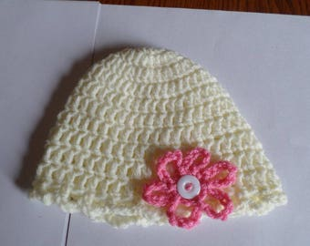 Baby Crochet Hat With Flower
