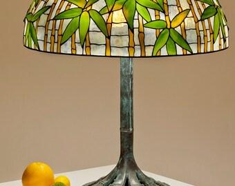 Asian Decor, Asian Lamp Shade, Bamboo Decor, Bamboo Lamp Shade, Bamboo Art, Asian Art, Asian Antiques, Standing Lamp, Table Lamp, Glass Lamp
