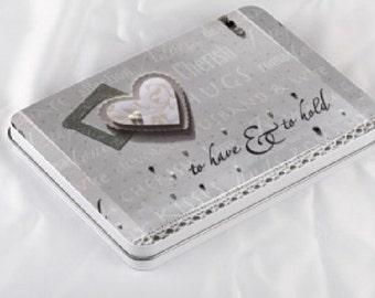 Wedding gift, Photo box,  Keepsake Tin box, Personalised Wedding Gift, Wedding Gift box, Keepsake gift, anniversary gift, handmade design.