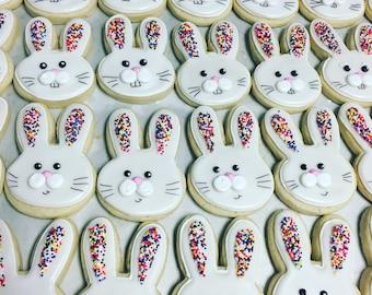 Sprinkle bunny face cookies