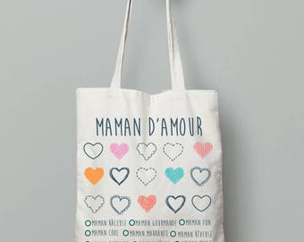 Tote bag coloring - MOM Christmas gift MOM