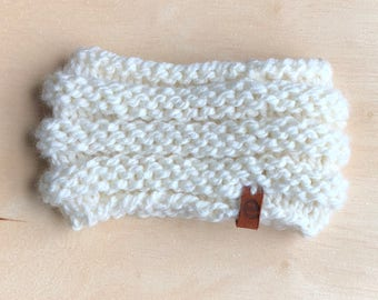 ribbed kids knit cowl